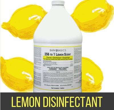 Bark 2 Basics 256:1 Disinfectant Lemon Scent Gallon