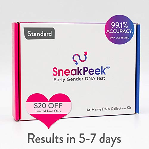 SneakPeek Early Gender DNA Test Kit - Predicts Baby Gender at 99.1% Accuracy¹ (Standard)