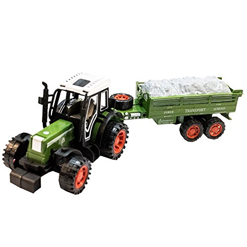 Tuktek Kids First Big Toy Tractor And Trailer Friction Push Farm Construction Tuck For Boys   Girls