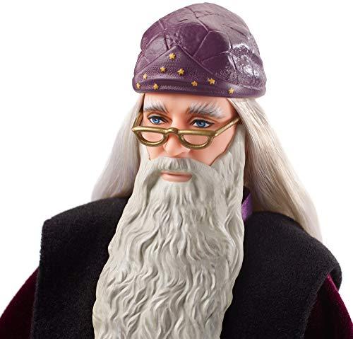 41SlJGnA5jL albus dumbledore - muñeco coleccionable de la saga harry potter profesor dumbledore - figura coleccionable para verdaderos fans: su característica ropa y los detalles especiales, como la barba y la varita de sauco, hacen que este muñeco de colección tenga un aspecto idéntico a las películas Dumbledore
