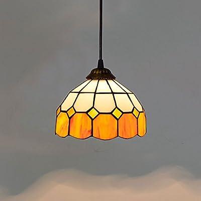 20CM orange orange méditerranéen créatif simple restaurant café Internet café hot pot boutique petits lustres vitrail