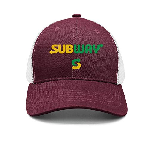 UONDLWHER Adjustable Unisex Subway-Fast-Food- Cap Plain Baseball Hat