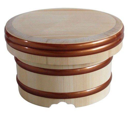 Natural Wood Ohitsu Rice Hangiri Japan Kitchen Goods Size8.2'''(21cm) by KISOU