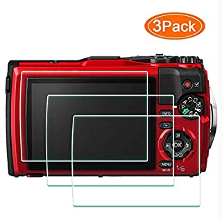 TG-6 Screen Protector Appliable for Olympus TG-6 Waterproof Camera Red Black,ULBTER 0.3mm 9H Hardness Tempered Glass Screen Cover, Anti-Scrach Anti-Fingerprint Anti-Water Anti-Dust [3 Pack]