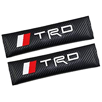 bearfire Car Seat Belts Covers Padding Carbon Fiber Leather Belt Shoulder Sleeve for BMW Accessory