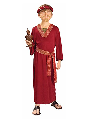 Forum Novelties Biblical Times Burgundy Wiseman Child Costume, Small