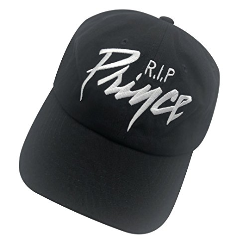 (binbin lin RIP Prince Dad Hat Baseball Cap Embroidered Dad Hat Adjustable Strapback Cap Black)