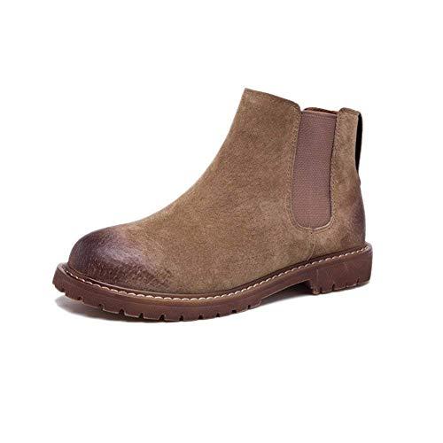 Pu Tacón Lazy Elástico Cortas Deed Botas Pedal Bajo Señoras E Invierno 35 Color Retro One De Shoes Otoño Eu Doble F8PwSwq