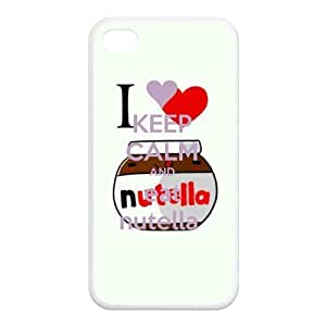 Fashion Keep Calm And Eat Nutella Personalized iPhone 4,4S Rubber Silicone Case Cover by icecream design