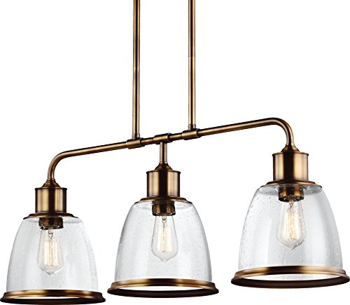 (Feiss F3019/3AGB Hobson Island Chandelier Lighting, Brass, 3-Light (36