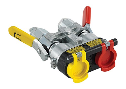 Parker Hannifin 9500-4 Agricultural Tractor Clamp Kit with Pioneer Lever Actuated Quick Coupler and Dust Cover Housing, 1/2