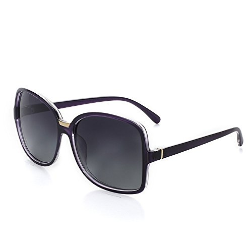 de Tortoiseshell de ovalada TL Retro guía gafas gran purple sol sol mujer ronda de polarizadas gafas Sunglasses wqv87ZT