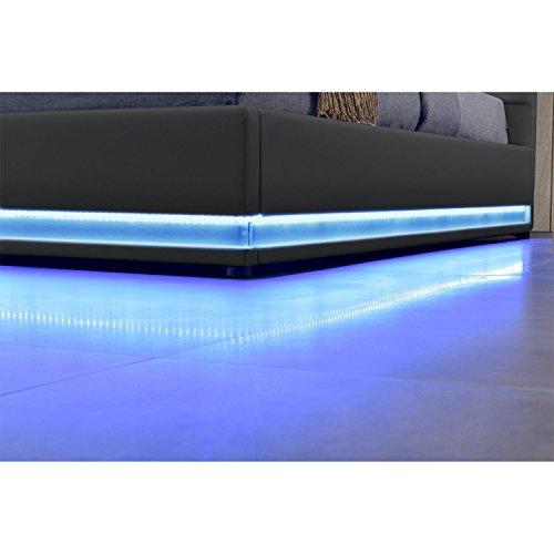 b0efb90c8c ArtLife Polsterbett Toulouse 140 x 200 cm mit rundum LED und Bettkasten -  dunkelgrau: Amazon.de: Küche & Haushalt
