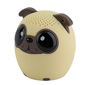 Enceinte Bluetooth, Tsing Mini Enceinte Bluetooth Portable Haut-parleur Bluetooth Audio Enceinte sous la Forme d'Animal 4 Heures à Jouer Parfaitement pour les Sports de Plein Air (Chien)