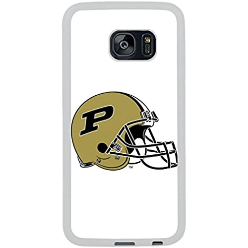 Samsung S7 Edge Case, Purdue Boilermakers White Rubber Case for Samsung S7 Galaxy Edge,S7 Edge Case,Galaxy S7 Sales