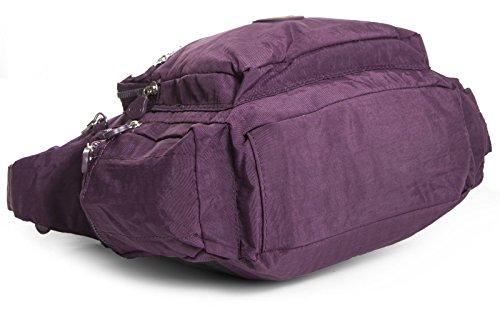 Big Handbag Shop - Bolso cruzados de tela para mujer One Rosa Magenta