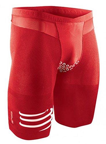 Da Compressport Rosso 2 Compressivo Short V2 Fondello Brutal Triathlon Tr3 Gara Pantalone Con FaqST
