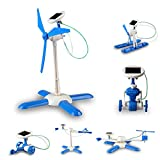Wall of Dragon new 6 in 1 DIY solar toy kit robot windmill plane car educational solar power Kits Novelty solar robots For Child boy gril Gift