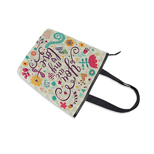 Womens My You Shoulder Are MyDaily Canvas Love Handbag Tote Flower Bag xZqCUzn