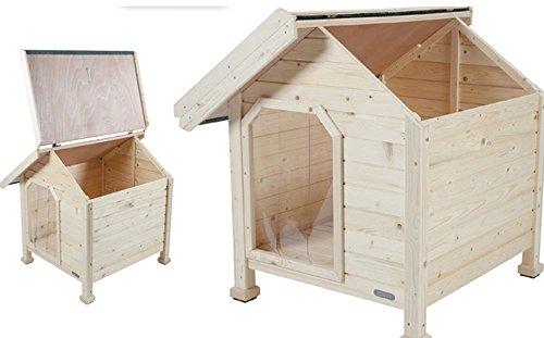 Caseta Madera Chalet Medium 84 x 90 x 86 cm: Amazon.es: Productos para mascotas