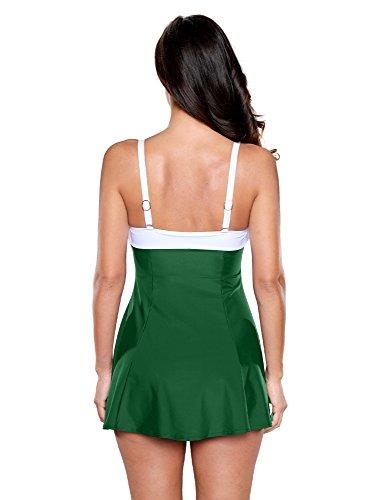 7a603add8b77 Home/Brands/LookbookStore Dresses/LookbookStore Women's Green Bow Swimdress  Bandeau One-Piece Skirt Bathing Suit Swimsuit, Size S. ; 