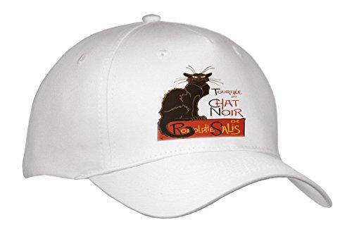 Noir Vintage Hat - 3dRose Taiche - Vector - Vintage Advertising - Tournee Du Chat Noir De rodolphe salis Vector Isolated - Caps - Adult Baseball Cap (Cap_273599_1)
