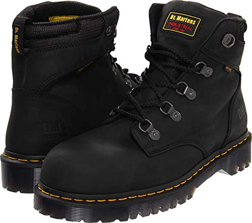 - Dr. Martens Holkham Steel Toe Hiker,Black,4 UK/6 M US Women's/5 M US Men's