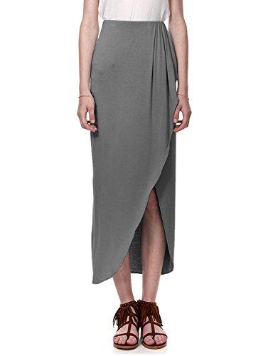 - Regna X Boho for Womans Stretch Elastic Waist Blouses Black 2XL Plus Size Big Maxi Long Floor Length Skirts