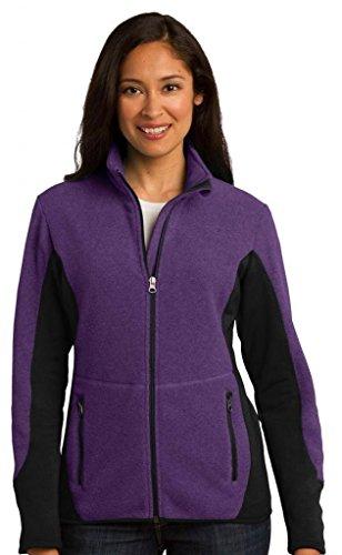 Port Authority Women's RTek Pro Fleece FullZip Jacket M Purp - Tek Gear Fleece