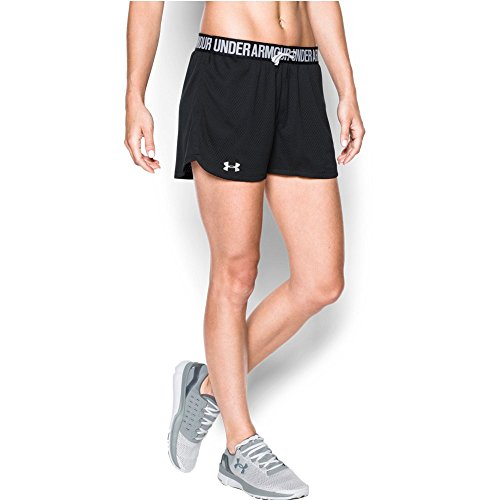 Under Armour Women's Play Up Mesh Short, Black/Black, Large
