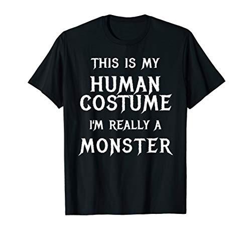 (Monster Halloween Costume Shirt Easy Simple)
