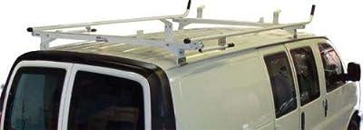 Aluminum Van Ladder Rack - GMC Savana, Chevy Express - Double Lock Down