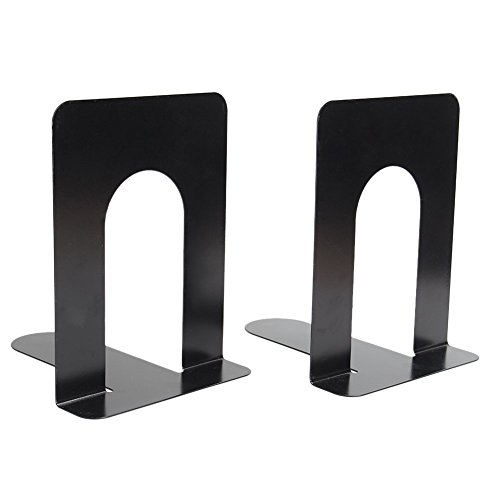 L-shaped Shelves (2x Universal L-Shaped Anti-skid Bookends Shelf Book Case End Holder Home Office Supplies (Black))