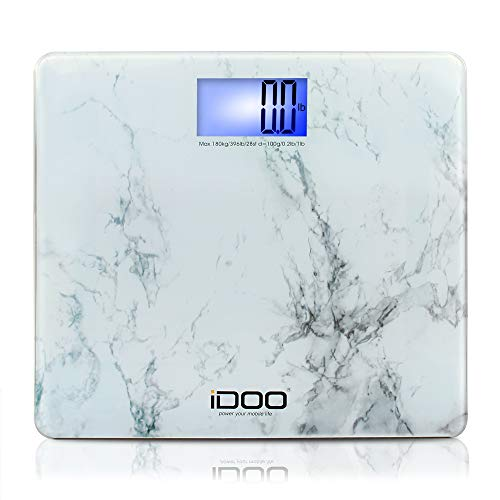 iDOO Digital Bathroom Scale Ultra Wide Heavy Duty Precision Oversized Digital Weight Scale Big Platform with Large Backlit LCD Display 400lb