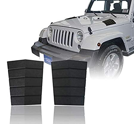 Jeep JK Cowl Body Armors Front Hood Corner Guards for 2007-2018 Jeep Wrangler JK - Pair Hooke Road