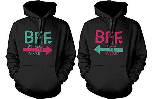 BFF accesorios BFF Pullover Sudaderas - Sudaderas con capucha para CRAZY y letras BFF mejores amigos: Amazon.es: Ropa y accesorios