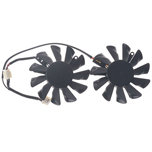 Allpartz PLD06010S12L 55mm DC 12V 0.2A 40mm 4Pin Graphics Video Card Cooling Dual Fan by Allpartz (Image #4)