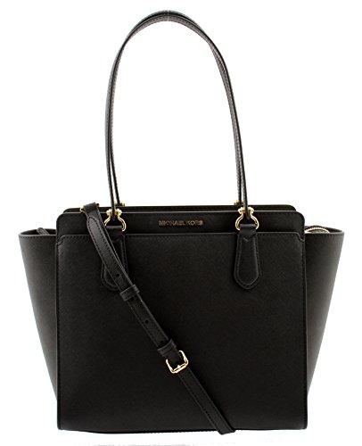 Michael Kors Dee Dee Large Convertible Tote, 30F6GTWT8L (Black)