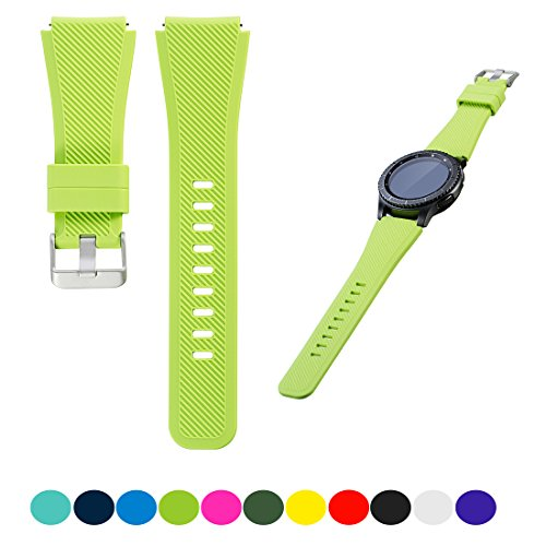 For Samsung Gear S3 Frontier / S3 Classic Smartwatch Replacement Watch Band - Feskio Accessory Soft Silicone Bracelet Wrist Strap Watch Band for Samsung Gear S3 Frontier / Classic Smartwatch