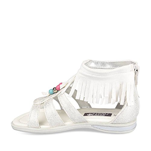 Nu-Pieds BLANC LOVELY SKULL Enfants Chaussea