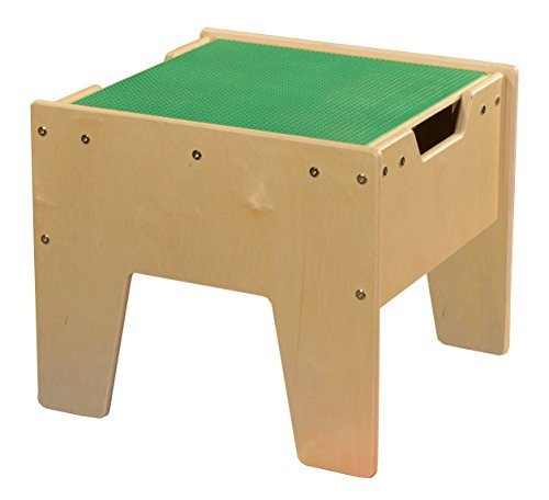 Contender C991300-G 2-N-1 Activity Table with Green Lego Compatible Top - RTA by Contender