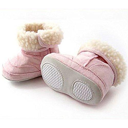 Rosa Kleinkind Baby rosa Aufladungen Schuhe QHGstore Baby warme nette 12cm Winter Schnee Mädchen qwgZIxI67A
