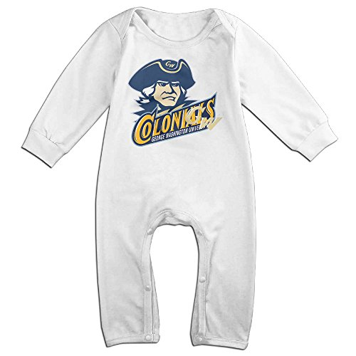 George Washington Colonials Cartoon Long Sleeves Variety Baby Onesies Creeper For Babies White Size 6 M
