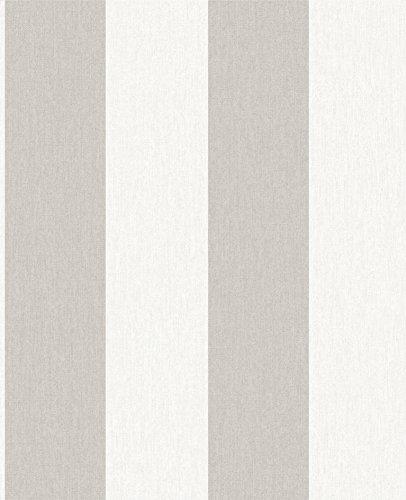 Graham & Brown 32-678 Calico Stripe Wallpaper, (Brown Stripe Wallpaper)