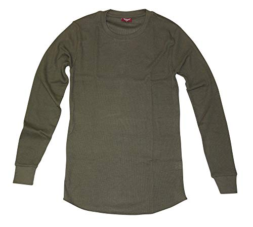 (CITYLAB City Lab Fitted Thermal Crewneck Shirt, Olive, X-Large )