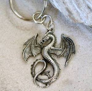 - GOTHIC FANTASY DRAGON KEYCHAIN Key Ring