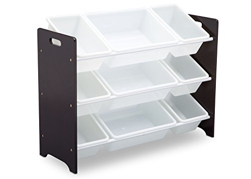 Delta Children MySize 9 Bin Plastic Toy Organizer, Dark Chocolate