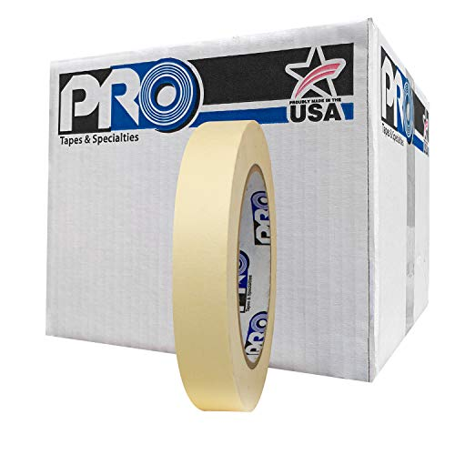 "ProTapes Pro 795 Crepe Paper General Purpose Masking Tape, 60 yds Length x 3/4"" Width, Tan (Pack of 48)"