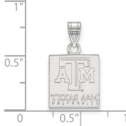 Texas A/&M University Aggies School Name Pendant in Sterling Silver 13x12mm
