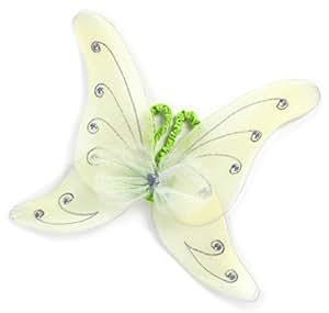 Grandes imitaciones -  alas de mariposa verdes para disfraz de hada (a partir de 2 años)